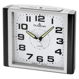 Dugena 4460593 Alarm Clock with Sweep Second Hand and Snooze
