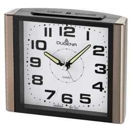Dugena 4460595 Alarm Clock with Sweep Second Hand and Snooze
