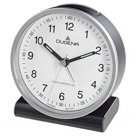 Dugena 4460943 Funkwecker Silber / Weiß