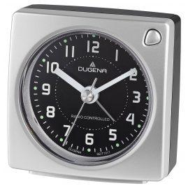 Dugena 4460940 Funkwecker Silber Metallic / Schwarz