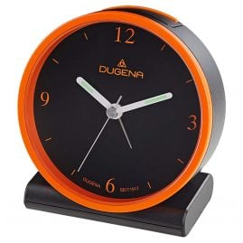 Dugena 4460945 Radio-Controlled Alarm Clock Black / Orange