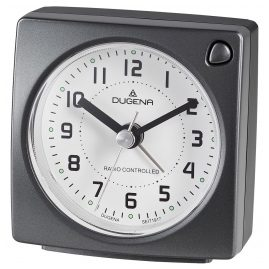 Dugena 4460942 Radio Controlled Alarm Clock Anthracite