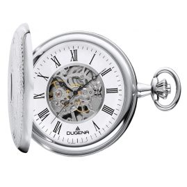 Dugena 4460637 Hand-Winding Skeleton Pocket Watch