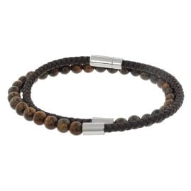 Boss 50424644 Men's Bracelet Brody Dark Brown