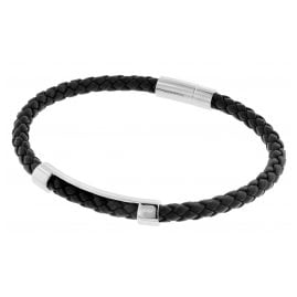 Boss 50460856-001 Herren-Armband Leder Schwarz Benni