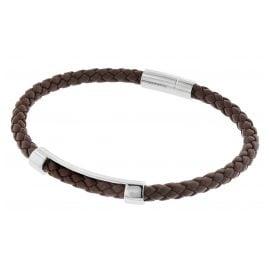 Boss 50460856-210 Herren-Armband Leder Braun Benni