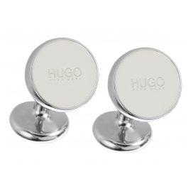 Hugo 50289289 E-Color Manschetten-Knöpfe Naturweiß