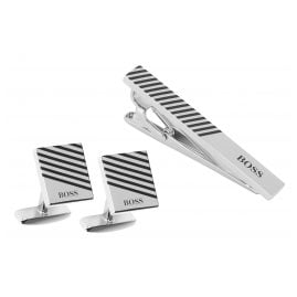 Boss 50424454 Set Cufflinks and Tie Holder Jango and Tango