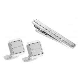 Boss 50424425 Set Cufflinks and Tie Holder Jamis and Tamis
