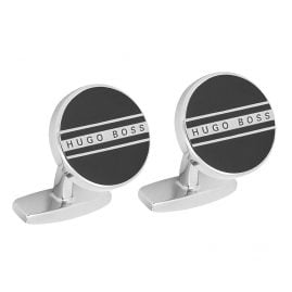 Boss 50434267-001 Cufflinks Freddie Black Round