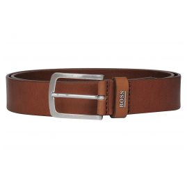 Boss 50424636 Men's Leather Belt Jor-Logo-Sz35 Medium Brown