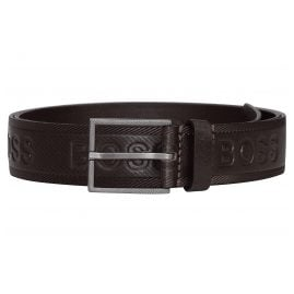 Boss 50430111 Men's Belt Tril-Logo Dark Brown