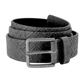 Boss 50461652-001 Men's Leather Belt Black Ther