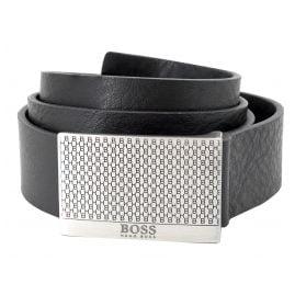 Boss 50440760-001 Men's Belt Joel Black Leather