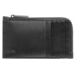 Boss 50446721-001 Zip Wallet Black Leather Truck
