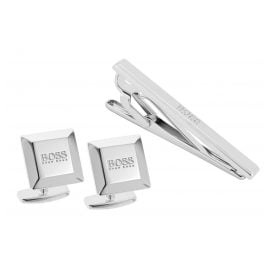 Boss 50428333 Set Cufflinks and Tie Holder Nel and Tel