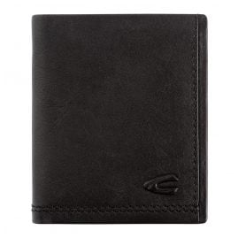 camel active 269-704-60 Leather Wallet Black Portrait Format Osaka