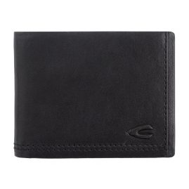 camel active 269-705-60 Wallet Black Leather Landscape Format Osaka