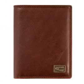 camel active 276-703-22 Wallet Cognac Brown Leather Portrait Format Japan