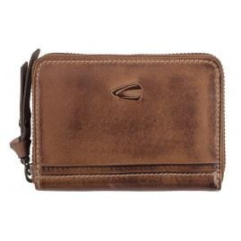 camel active 297-702-22 Leather Wallet with Zip Cognac Brown Sullane