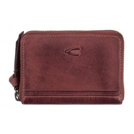 camel active 297-702-40 Wallet with Zip Burgundy Leather Sullane