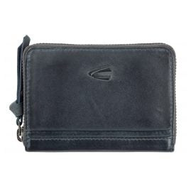camel active 297-702-58 Wallet with Zip Nightblue Leather Sullane