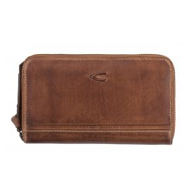 camel active 297-704-22 Ladies' Wallet with Zipper Sullana Cognac RFID Protection