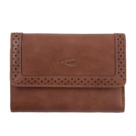 camel active 300-703-22 Wallet Talara Snap Lock Cognac Brown RFID Protection