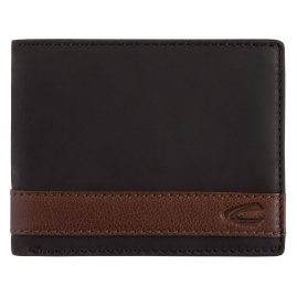 camel active 27470460 Men's Wallet Taipei Black Leather