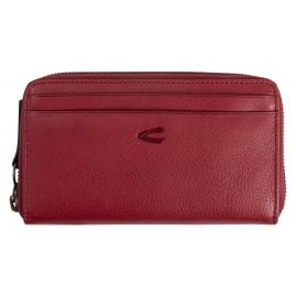 camel active 310705197 Women's Zip Wallet Medium Red Leather Sara