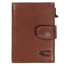 camel active 31870222 Leather Wallet with RFID Protection Cognac Brown Trapani