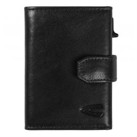 camel active 31870260 Black Leather Wallet with RFID Protection Trapani