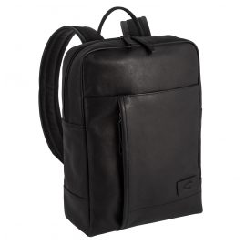 camel active 290-201-60 Men's Backpack Laredo Black Leather