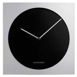 Jacob Jensen JJ-318 Wall Clock Silver/Black