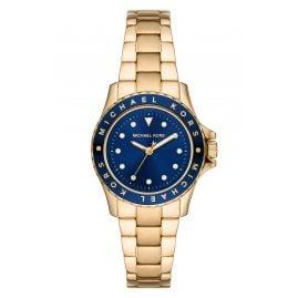 Michael Kors MK6954 Damen-Armbanduhr Kenly gold / blau