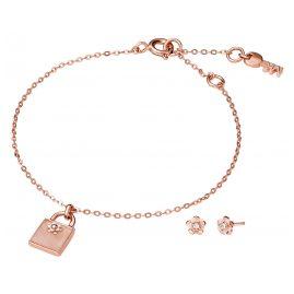 Michael Kors MKC1194AB791 Schmuckset Armband und Ohrringe Blume