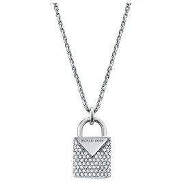 Michael Kors MKC1040AN040 Silber Damen-Halskette mit Anhänger Kors Color