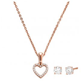 Michael Kors MKC1130AN791 Jewellery Set Necklace and Earrings Heart