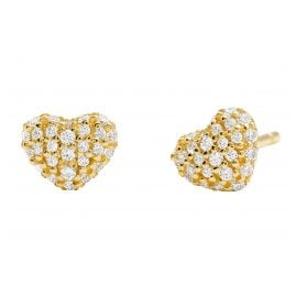 Michael Kors MKC1119AN710 Ladies' Stud Earrings Love