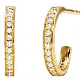 Michael Kors MKC1177AN710 Women's Hoop Earrings Gold Plated Silver