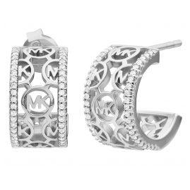 Michael Kors MKC1476AN040 Damen-Ohrringe Creolen Silber