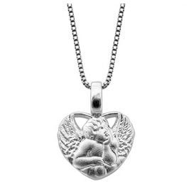 trendor 48979 Amor-Heart Pendant Women's Necklace 925 Silver