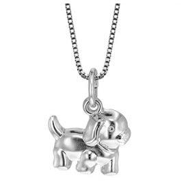 trendor 49198 Silber Mädchen-Halskette Hund