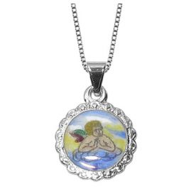 trendor 60842 Angel Pendant Children's Necklace Silver 925