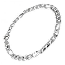 trendor 41444 Silber Herren Armband Figaro Breite 5,3 mm