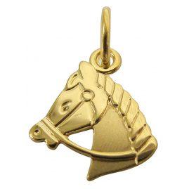 trendor 61085 Gold Anhänger Pferdekopf