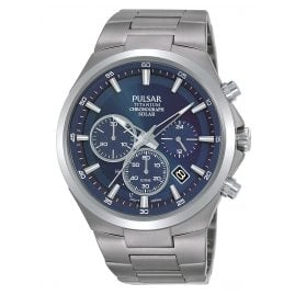Pulsar PZ5095X1 Men's Watch Titanium Solar Chronograph