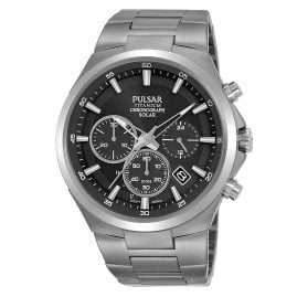 Pulsar PZ5097X1 Men's Watch Titanium Solar Chronograph