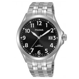 Pulsar PS9631X1 Men's Watch Quartz Stainless Steel Black 10 bar