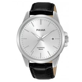 Pulsar PS9643X1 Men's Watch with Black Leather Strap